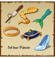 Set of six specific items for a true Princess vector image vector image