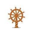 ship sailboat steering wheel cartoon vector image