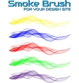 SMOKE BRUSH FOR YOUR DESIGN SITE vector image
