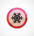 snowflake circle pink triangle background icon vector image vector image