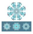 snowflakes symbol design vector image vector image