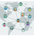 Social network in world vector image