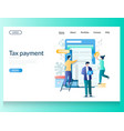 tax payment website landing page design vector image vector image
