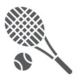 tennis glyph icon fitness and equipment racket vector image vector image