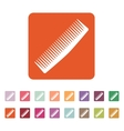 The comb icon Barbershop symbol Flat vector image
