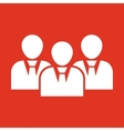 The management and teamwork icon Team and group vector image vector image