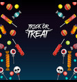 trick or treat halloween vector image vector image
