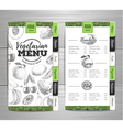 Vintage vegetarian food menu design vector image vector image