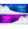 winter christmas background snow forest vector image