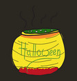 witches cauldron with potion isolated on vector image vector image