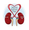 world kidney day cartoon vector image
