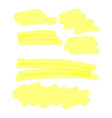 yellow highlighter collection vector image vector image