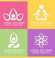 yoga studio abstract logos templates vector image