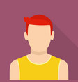 young man icon flat style vector image