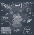 Bakery doodle set vector image