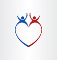 couple wedding love cheers celebration symbol vector image