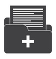 medical files icon vector image