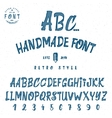 Hand drawn font watercolor handwriting brush vector image