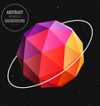 sphere in universe vector image