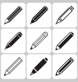 pencil icons set vector image