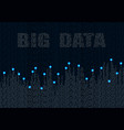 abstract big data graph infographic design vector image vector image