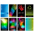 abstract business card collection vector image