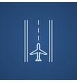 Airport runway line icon vector image vector image