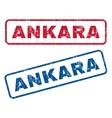 Ankara Rubber Stamps vector image vector image