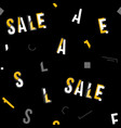 black white and yellow sale typography vector image