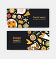 bundle coupon or voucher templates with sweet vector image vector image