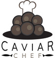 caviar design template with chef hat vector image vector image