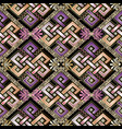 celtic style abstract 3d greek seamless pattern vector image
