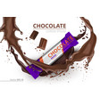 chocolate bar realistic mock up label vector image