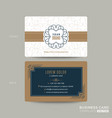 classic vintage business card namecard design vector image vector image