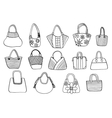 Collection design handbags vector image vector image