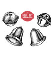 collection hand drawn bells vector image
