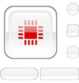 Cpu white button vector image vector image