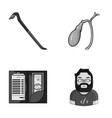 crime service and other monochrome icon in vector image vector image