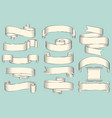 curled blank paper stripes for sign placement vector image