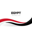 egypt flag wavy ribbon with colors egyptian vector image vector image
