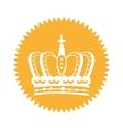 elegant frame with crown vector image