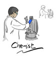 female chemist working with equipment in vector image vector image