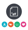 File GIF sign icon Download image file vector image