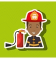 firefighter extinguisher protective vector image vector image