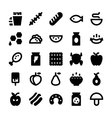 Food and Drinks Icons 6 vector image