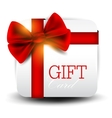 Gift card with red ribbon background