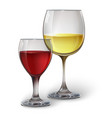 Glass glasses with wine vector image vector image