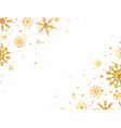 golden snowflakes border with different ornaments vector image vector image