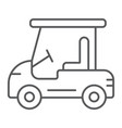 golf car thin line icon automobile and sport vector image vector image