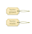 Home-made tags set 13 vector image vector image